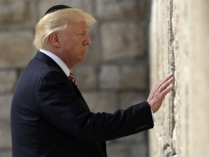Donald Trump Visit au in the Westeren Wall