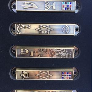 Mezuzah  Case +with Scroll  Mezuzah- 5 units Perfect Set